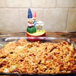 Baking Gnome and Apple Crisp